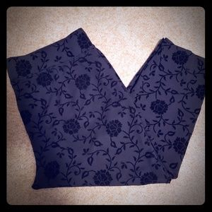 Avenue plush floral patterned leggings